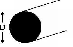 Barre ronde de plastique diamètre 14 mm