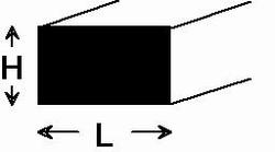 Plat rectangulaire plastique 0,5 x 3,0 x 320 mm